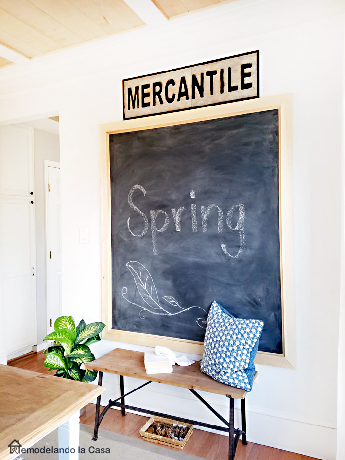 How to build and install a big chalkboard
