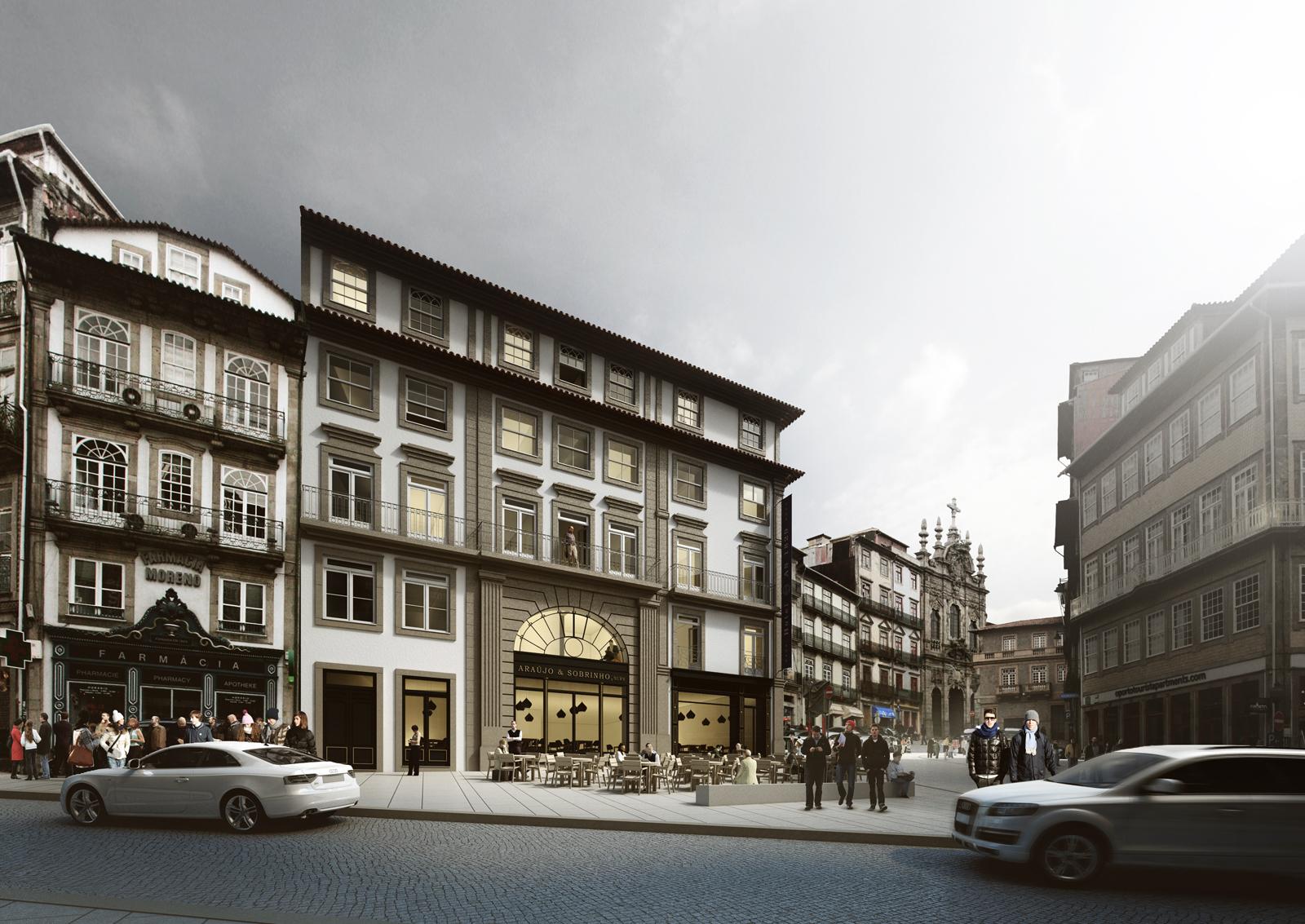 Zulmira design hotel a s rua das flores porto for Porto design hotel