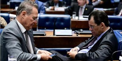Lava Jato - Operação da PF investiga propina da J&F para Renan e mais 9 senadores do MDB