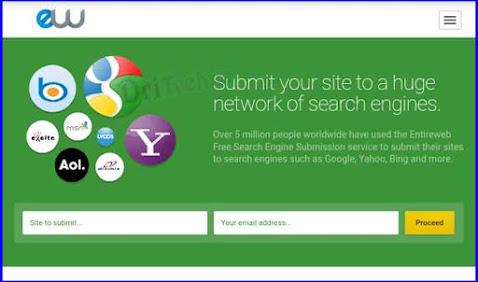 اضافة الموقع الى محركات البحث وكسب المال عن طريق entireweb