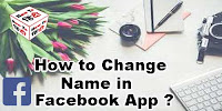 how to change your name on facebook app