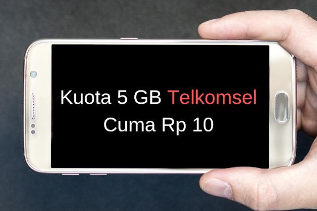 Cara Mendapatkan Kuota Internet Telkomsel 5 GB Cuma Rp 10