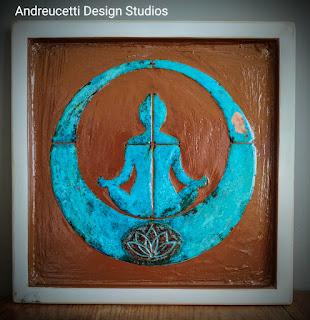 Dublin yoga studio, Irish abstract artist, patina