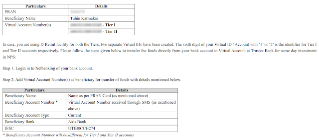 Email confirmation after virtual account creation