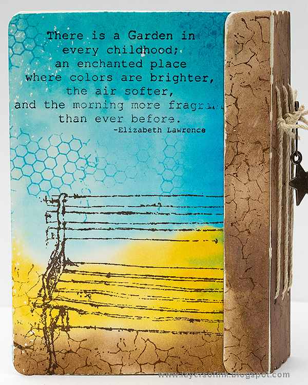 Layers of ink - Stamped Passport Book Tutorial by Anna-Karin with Sizzix dies by Eileen Hull and Stampotique stamps