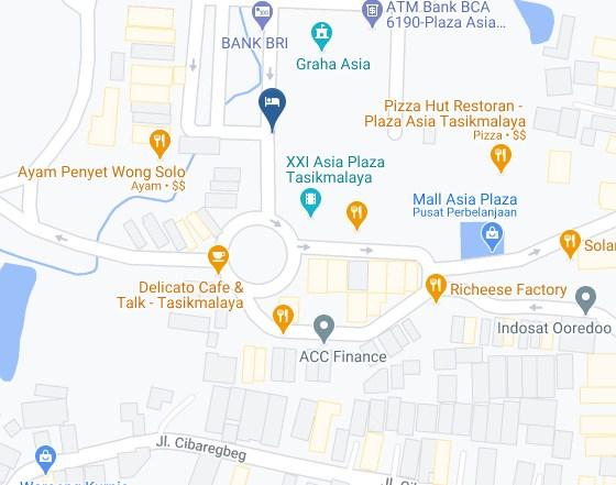 Map Letak Hotel Asri Tasikmalaya