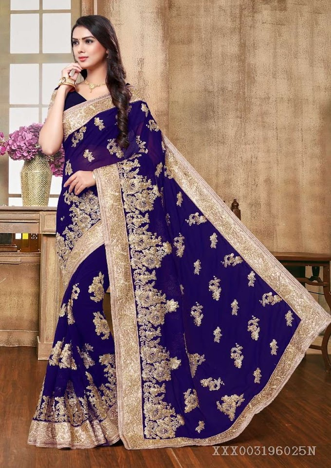 Gorgeous Ladies Party Wear Sarees.