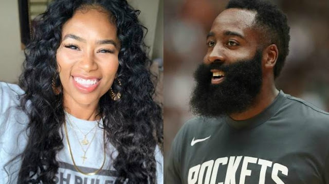 James Harden photo attached with his ex-girlfriend