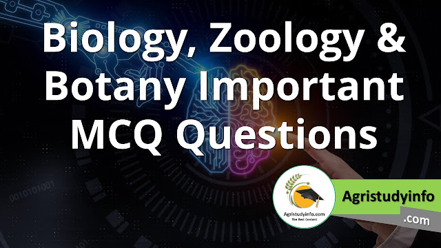 Read more about the article Biology, Zoology & Botany Important MCQ Questions