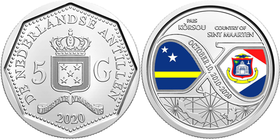 Netherlands Antilles 5 gulden 2020 - 10 years of structural reforms