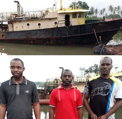 Three suspected oil thieves arrested in Port Harcourt