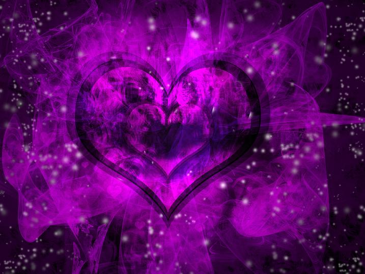 Purple And Black Hearts Wallpaper: Beautiful Purple Heart Wallpaper, Purple Heart Wallpaper