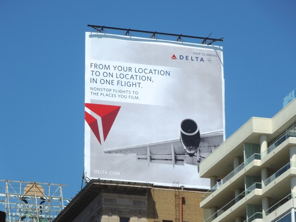 From your location Delta billboard