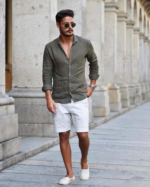 không nên mặc quần short dài quá đầu gối