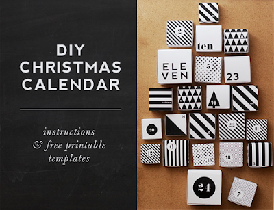 DIY free Christmas advent calendar printable