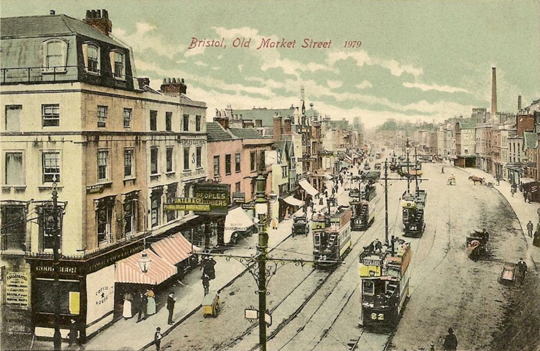 British paintings old market street in the 1900 39 s bristol for Classic house bristol