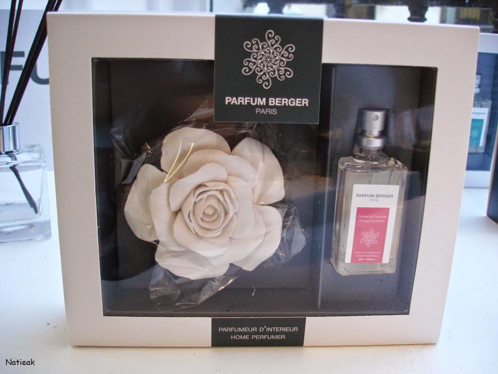 collection de Parfums de Maison coffret rose et parfum orange cannelle