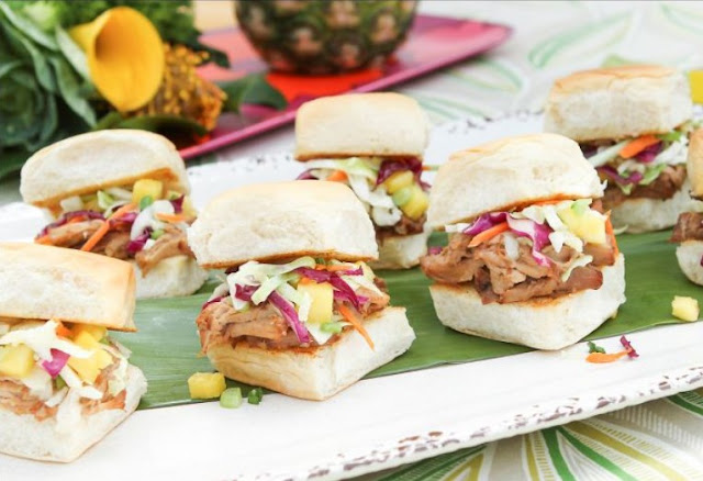 Slow Cooker Pulled Pork with Pineapple Coleslaw #whole30 #paleo