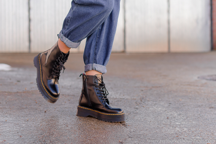Botas negras con cordones modelo Punk de ALPE clon inspiracion Dr Martens Made in Spain