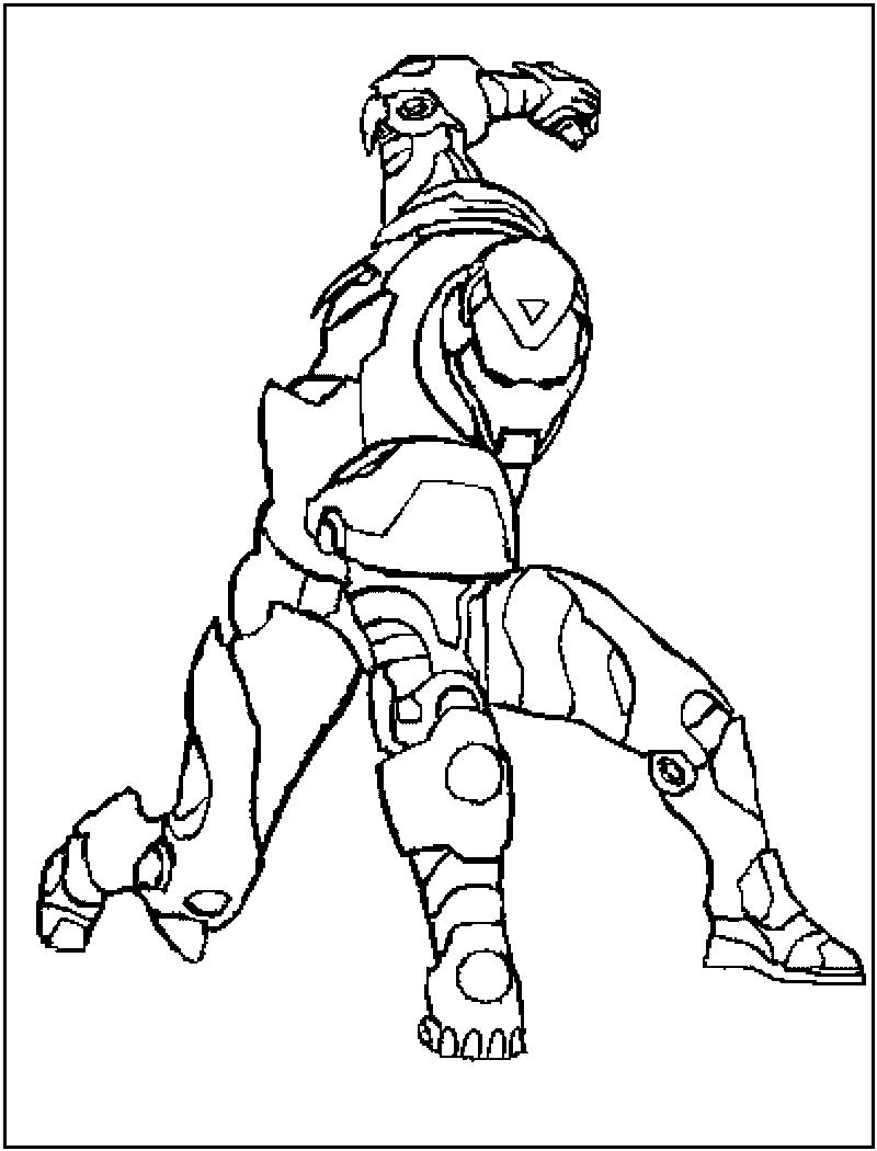 Desenho Do Homem De Ferro Para