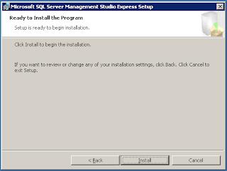 Installasi Tools Management Studio pada sql server
