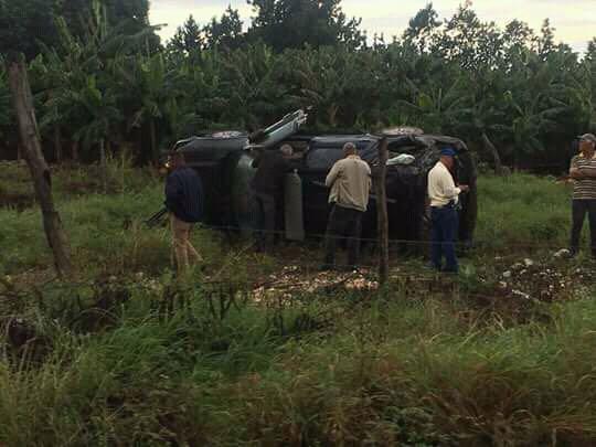 De último minuto.- Vehículo de avanzada del presidente dominicano Danilo Medina sufre vuelco.