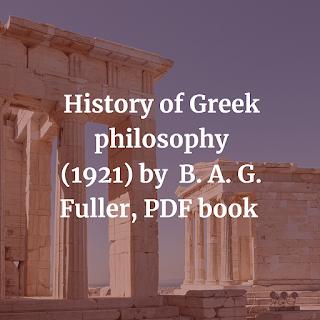 History of Greek philosophy