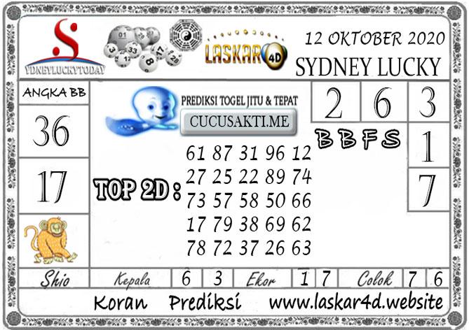 Prediksi Sydney Lucky Today LASKAR4D 12 OKTOBER 2020