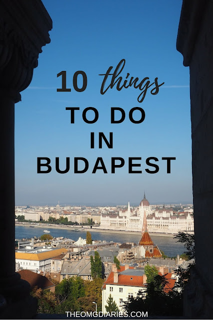 10 things to do in Budapest pinterest graphic