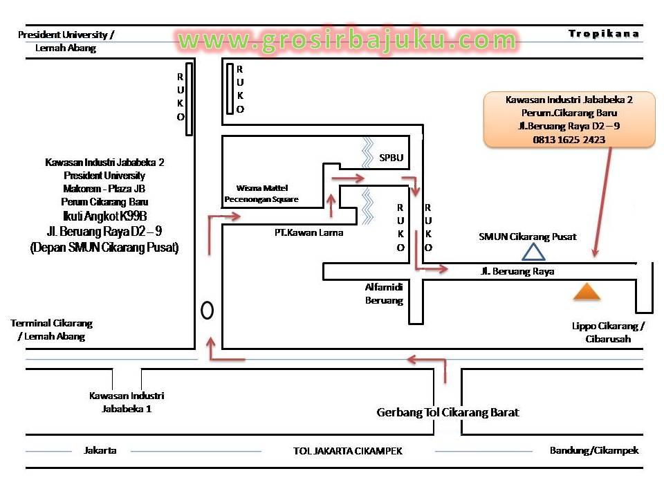 Peta Gudang GrosirBajuKu