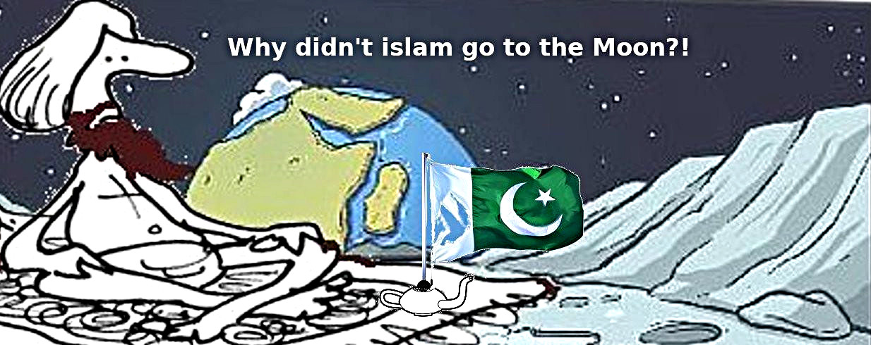 Why didn't islam go to the moon?!