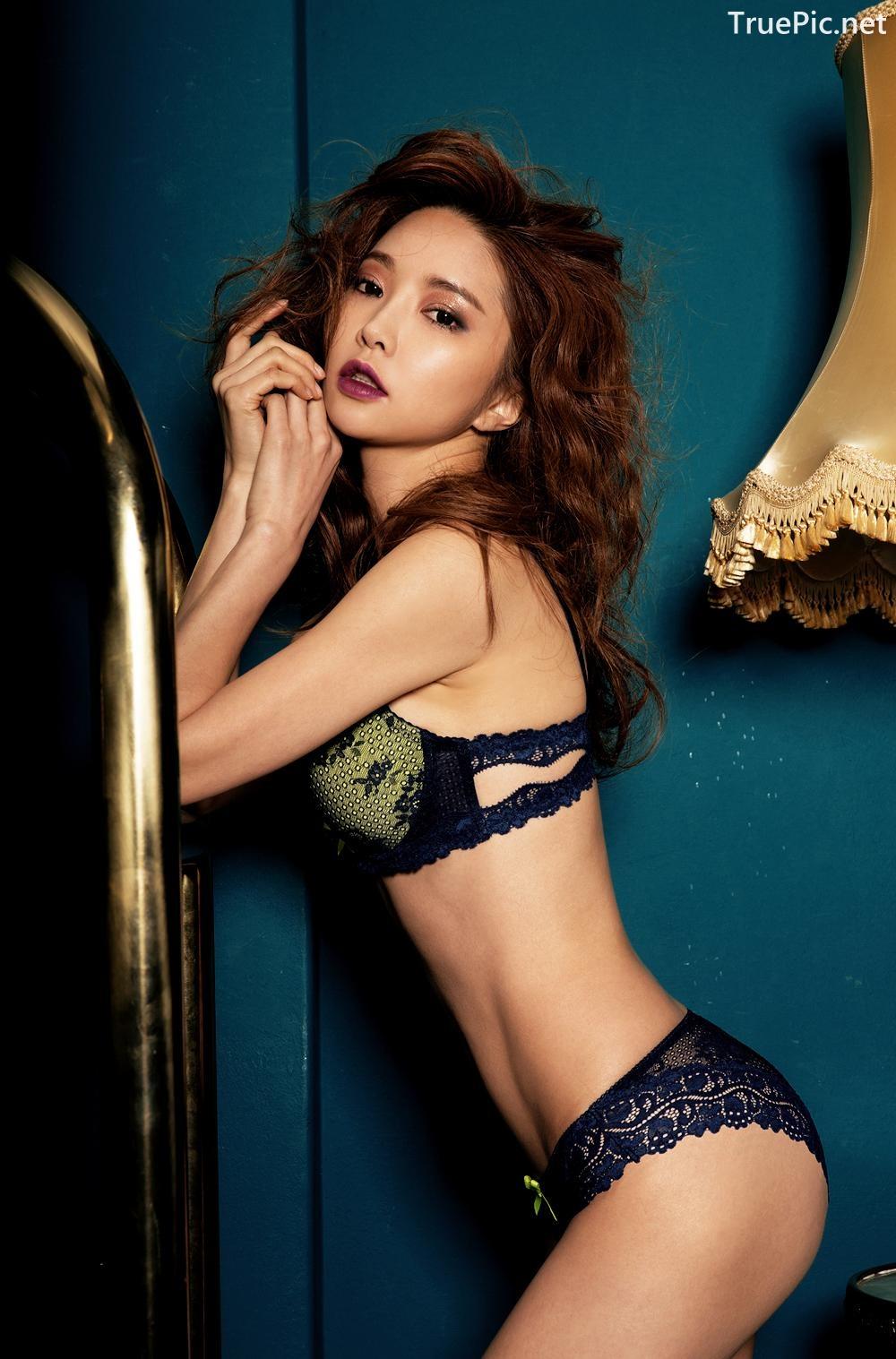 Image Korean Fashion Model - Park Soo Yeon - BVB Black Lace Lingerie - TruePic.net - Picture-1