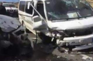 """حالة وفاة وأكثر من 15 مصاباً   فى حادث تصادم سيارتين ميكروباص على طريق  """"  المحلة - طنطا """""""