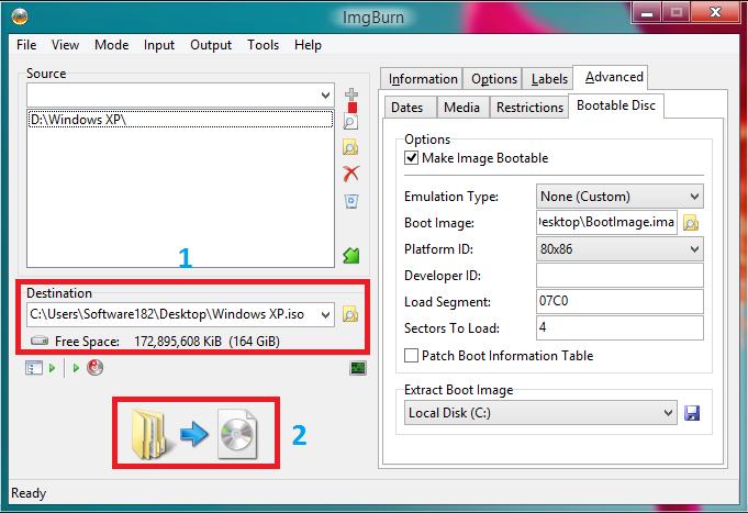 Create ISO File Windows XP IMGBurn