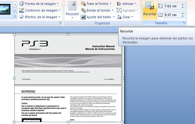 Recortar imágenes de un archivo PDF
