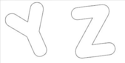 Moldes de Letras - Letras do Alfabeto - YZ