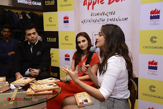 Sonakshi Sinha Karan Johar at Aishwarya Rajinikanth Standing on an Apple Box Book Launch Event  0065.jpg