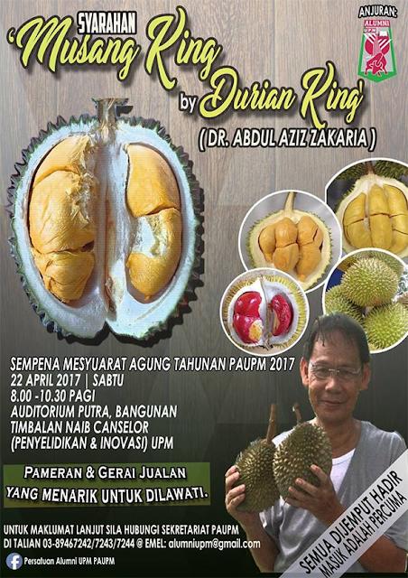 ALUMNI UPM - Syarahan Musang King By Durian King (Dr Abdul Aziz Zakaria)