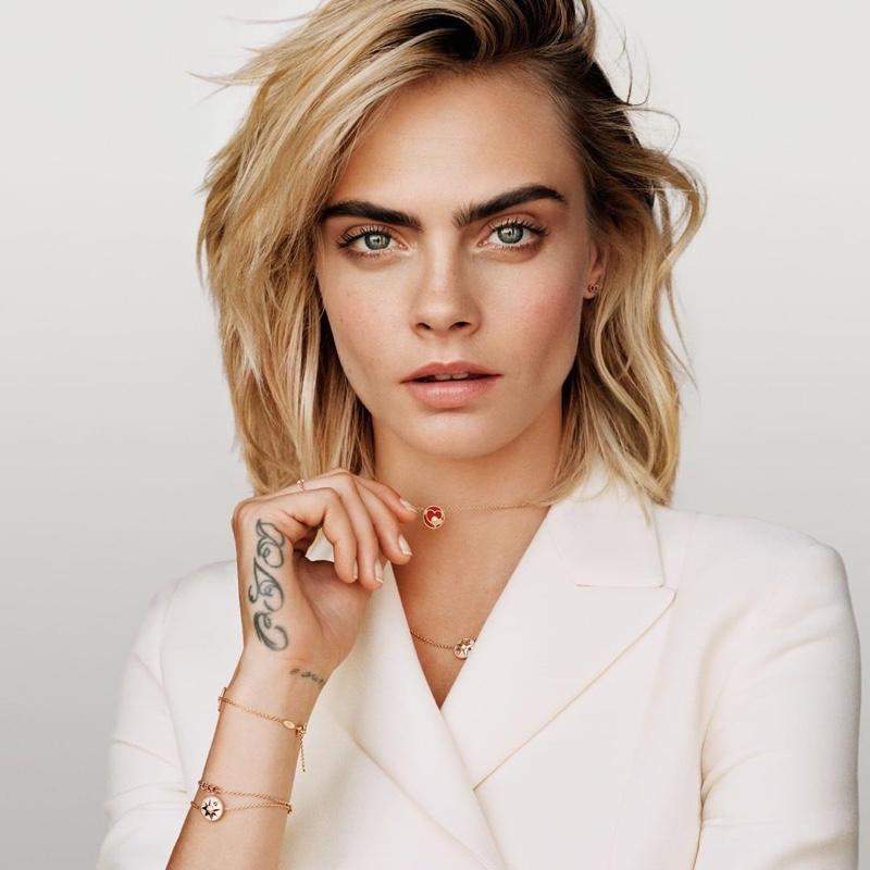 Cara Delevingne stars in the Dior Jewelry 2020 Campaign