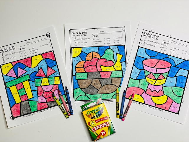 Kwanzaa Multiplication Color By Number