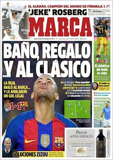 portada Marca empate Real Sociedad. A seis puntos 28 11 2016