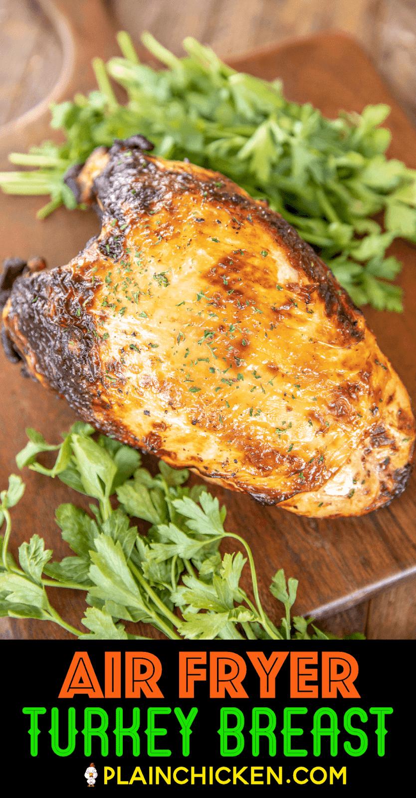turkey breast on carving board
