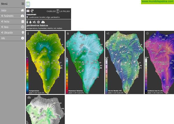 El Cabildo mejora el portal HD Meteo para ofrecer más información sobre el tiempo en La Palma