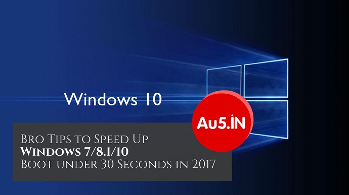 Speed Up Windows 7/8.1/10 in 2017
