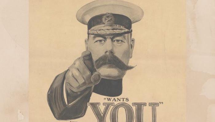 Conheça os Cartazes Oficias e o impacto que eles geraram durante a primeira Guerra Mundial