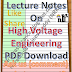 Lecture Notes on High Voltage Engineering PDF Material Download