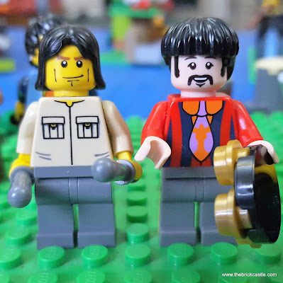 LEGO Keith Moon from The Rolling Stones and Ringo Starr of The Beatles
