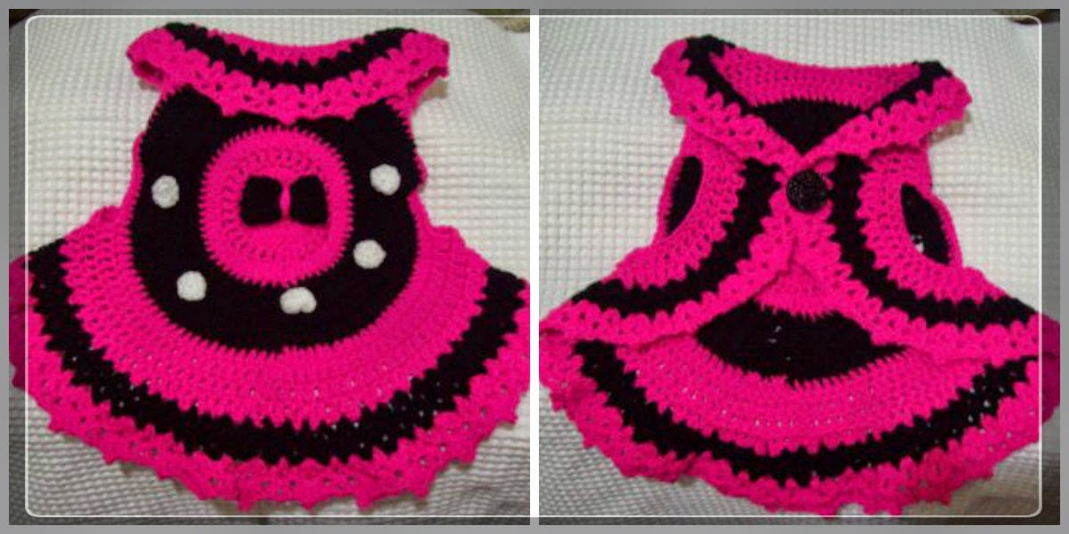 Minnie inspired crochet vest