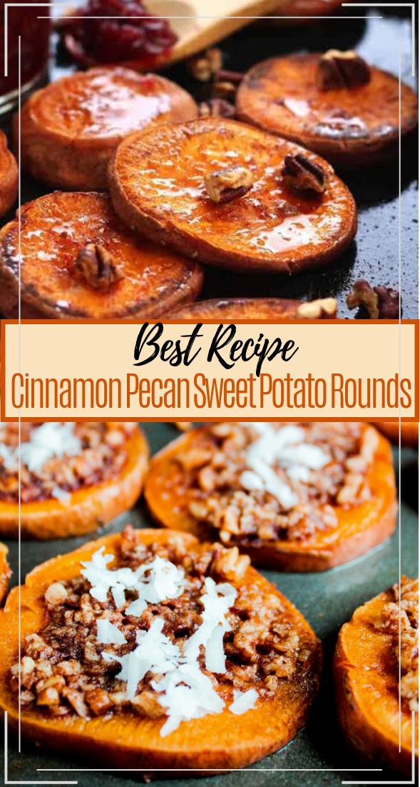 Cinnamon Pecan Sweet Potato Rounds #vegan #vegetarian #soup #breakfast #lunch