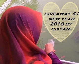 Giveaway #1 New Year 2018 By Cikyan, Blogger Giveaway, Peserta, Hadiah, Pemenang,
